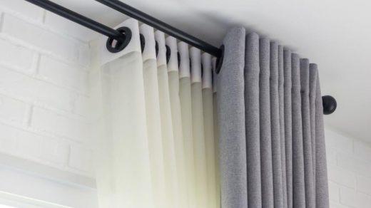 Installer tringle à rideaux